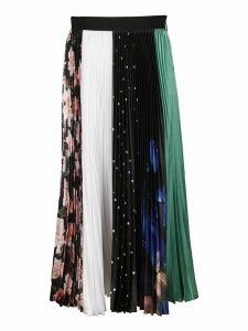 MSGM Patchwork Pleated Skirt