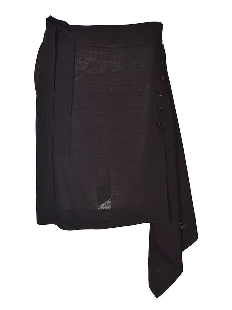 Rick Owens Asymmetric Wrap Skirt