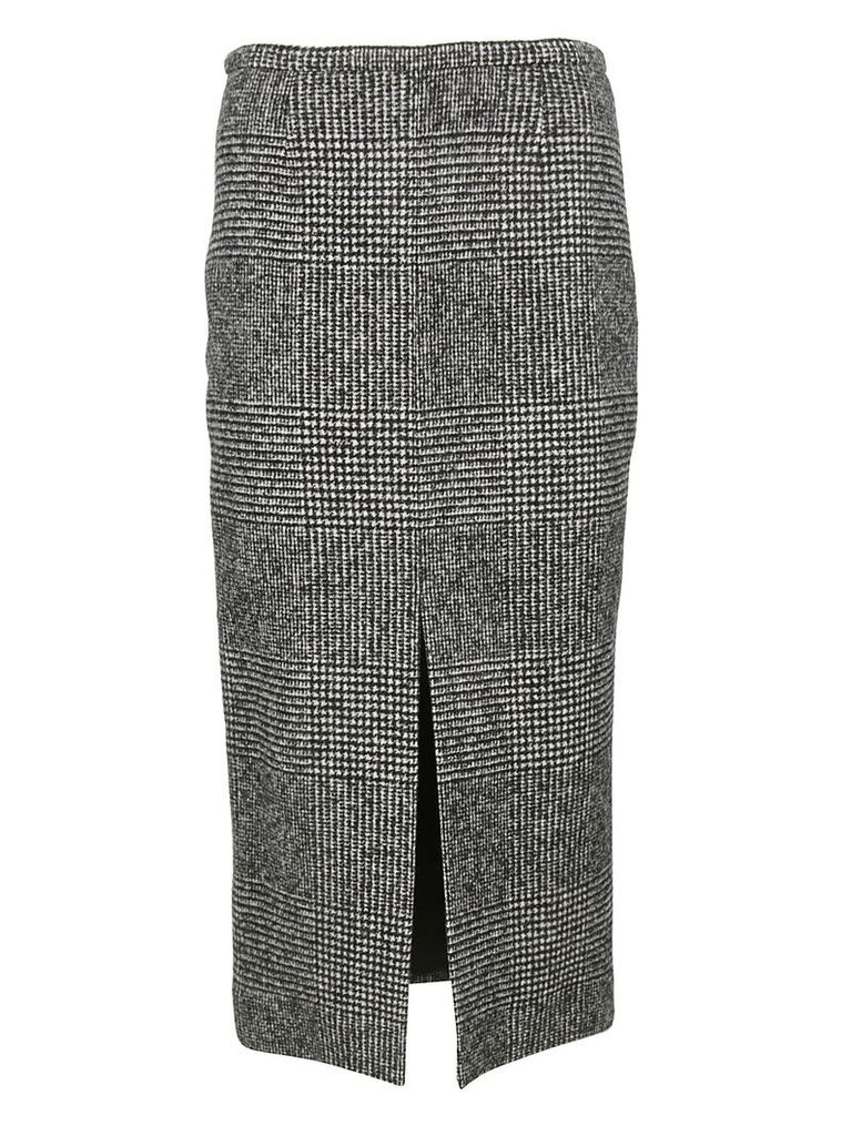 Rochas Plaid Pencil Skirt