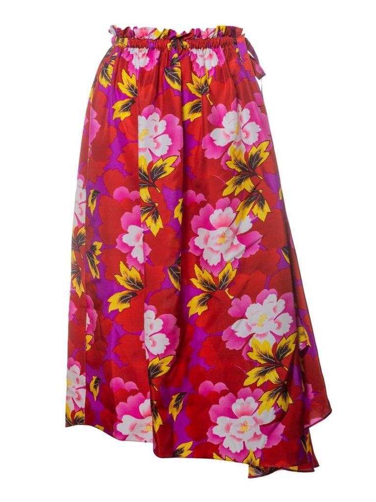 Kenzo Floral Asymmetric Skirt