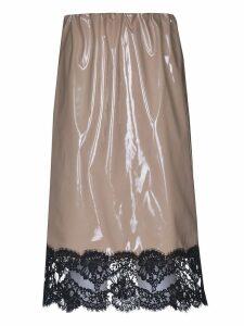 N.21 Vinyl Laced Skirt