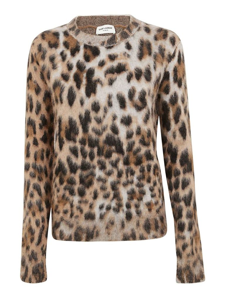 Saint Laurent Leopard Motif Sweater