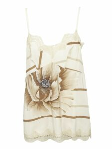 Ibrigu Lace Detailed Floral Tank Top
