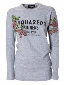 Dsquared2 Floral Logo T-shirt