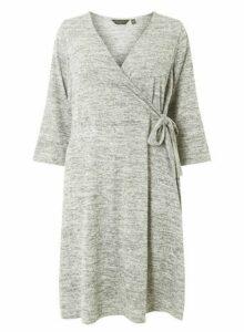 Womens **Dp Curve Grey Brushed Skater Dress- Grey, Grey
