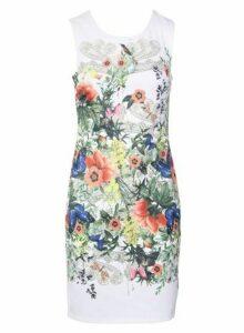 Womens * Izabel London White Floral Shift Dress- White, White