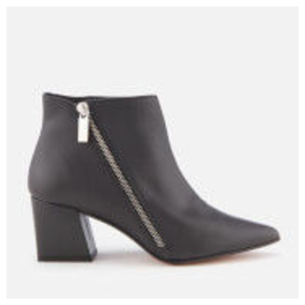 Carvela Women's Signet Leather Heeled Ankle Boots - Black