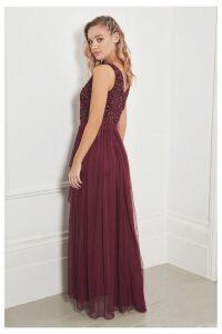 Womens Sistaglam Maxi Skirt Dress -  Red