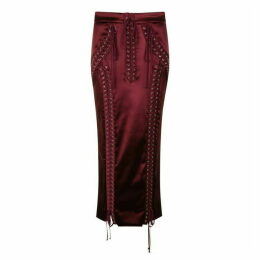 Dolce and Gabbana Satin Midi Pencil Skirt
