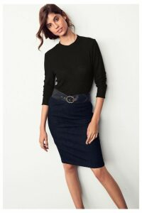 Womens Next Rinse Denim Skirt -  Blue