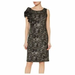 Gina Bacconi Nikita Frill Dress, Black