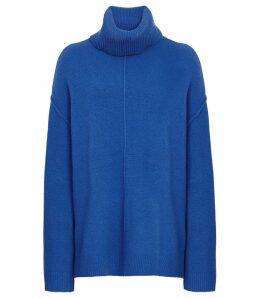 Reiss Cleo - Wool Cashmere Blend Jumper in Cobalt, Womens, Size XXL