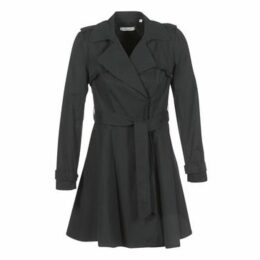Naf Naf  BABILOU  women's Trench Coat in Black