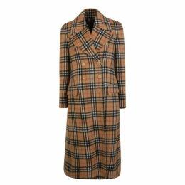 Burberry Vintage Check Alpaca Wool Coat