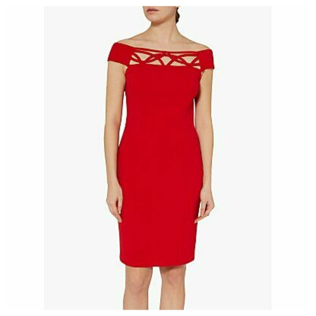 Gina Bacconi Ranita Crepe Off The Shoulder Dress