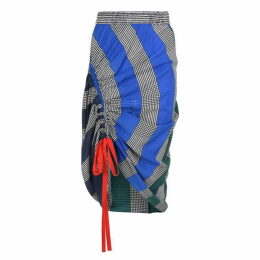 HILFIGER COLLECTION Silk Rugby Stripe Ruched Skirt