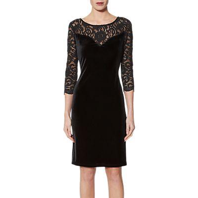 Gina Bacconi Agneta Velvet Dress, Black