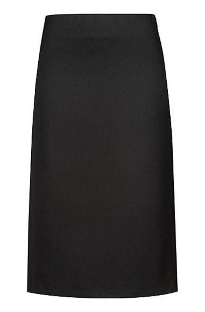 Slim-fit midi skirt with ball-chain side trims