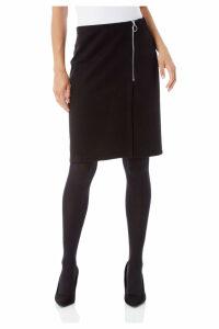 Ponte Zip Skirt