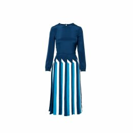 Shopyte - Royal Blue Silk Dress