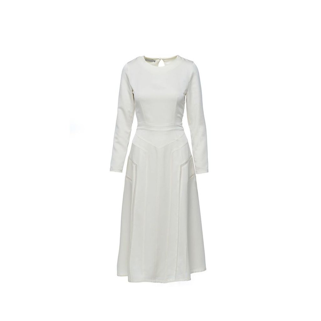 Shopyte - Daisy White Silk Dress 3