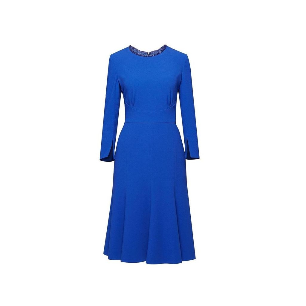 Rumour London - Christina Royal Blue Fluted Dress