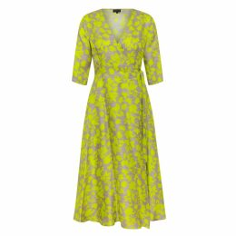 Rumour London - Beatrice Jersey Dress With Blue Tweed Skirt