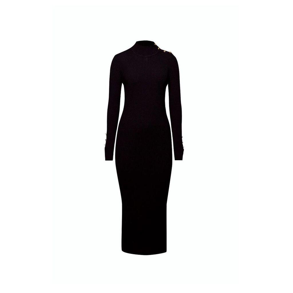 Rumour London - Adriana Maxi Ribbed Wool Dress