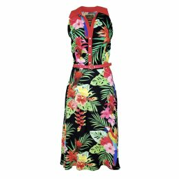 PAISIE - Checked V Neck Blazer With Peplum Hem In White & Black