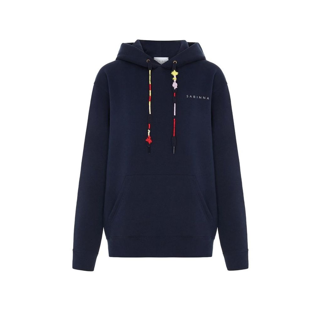 SABINNA - Berlin Hoodie Navy With Embroidery