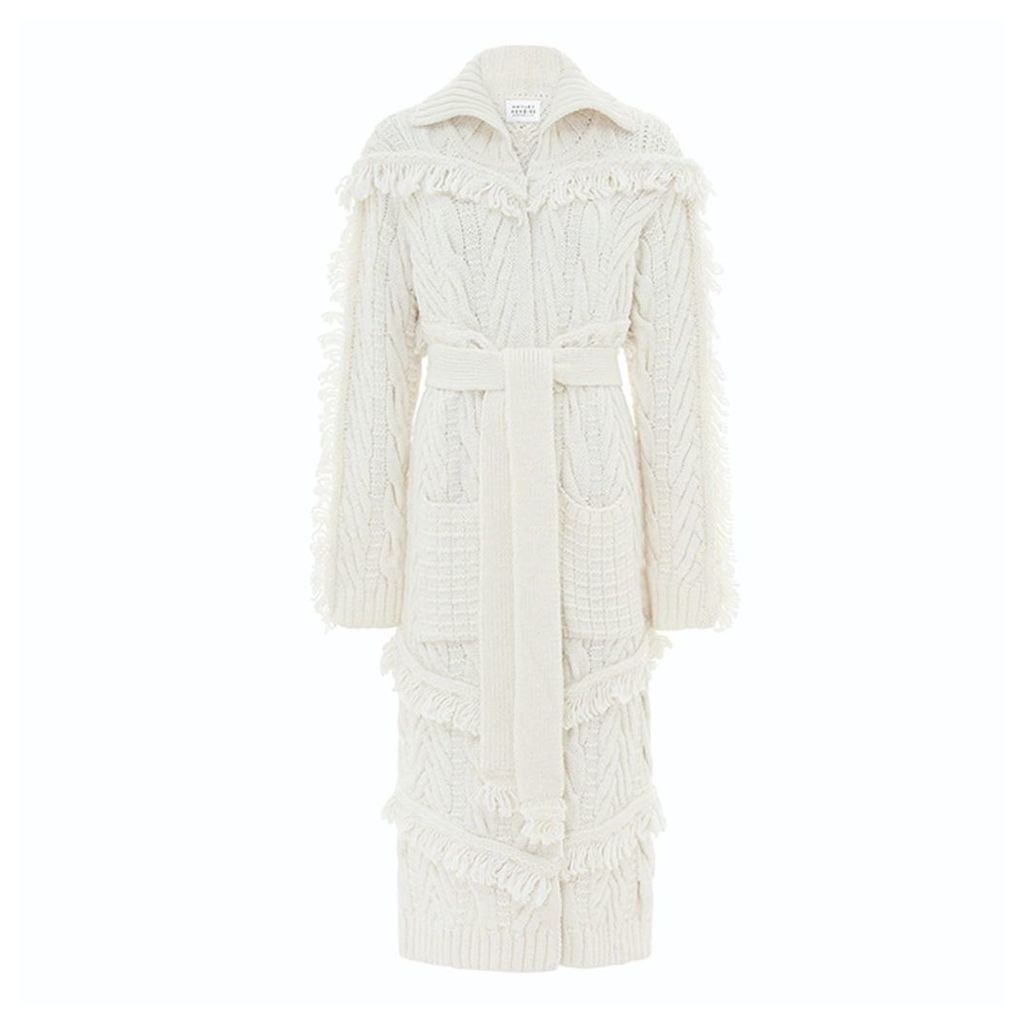 Hayley Menzies - Long Etta Cardi-Coat Cream