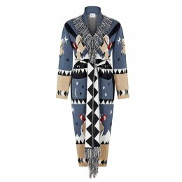 Hayley Menzies - Long Sunrise Rodeo Cardi-Coat Denim and Black