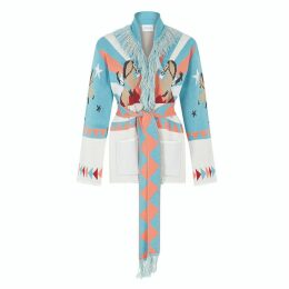 Hayley Menzies - Short Sunrise Rodeo Cardi-Coat Turquoise