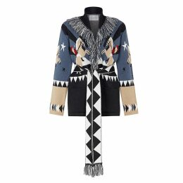Hayley Menzies - Short Sunrise Rodeo Cardi-Coat Denim and Black