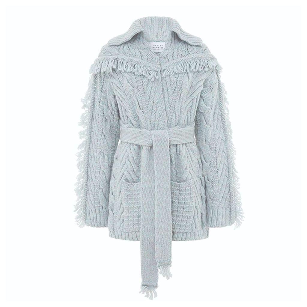 Hayley Menzies - Short Etta Cardi-Coat Silver Grey