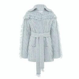 Hayley Menzies - Short Etta Cardi-Coat Silver Grey