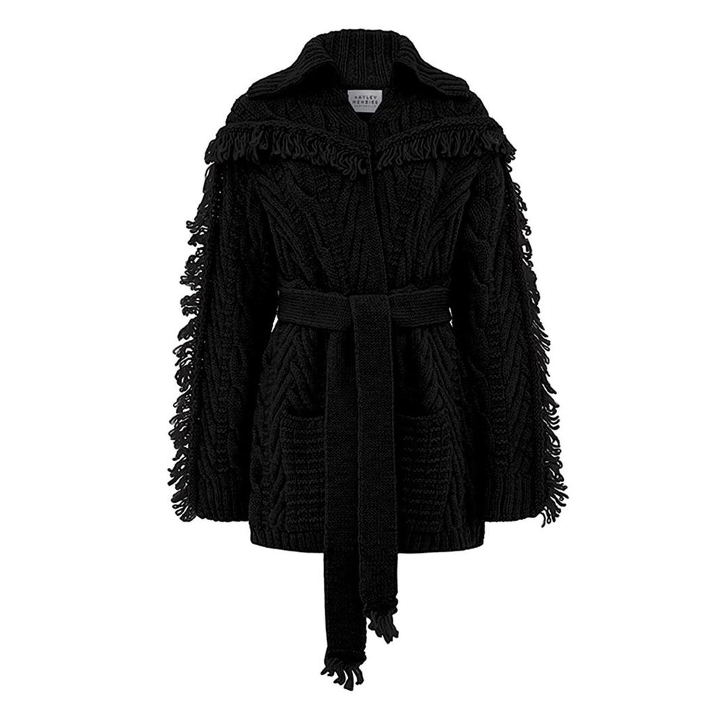 Hayley Menzies - Short Etta Cardi-Coat Black