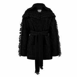 Hayley Menzies - Short Etta Cardi-Coat Black