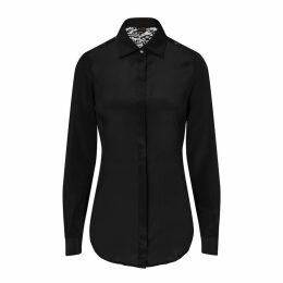 Sophie Cameron Davies - Black Fitted Silk Shirt