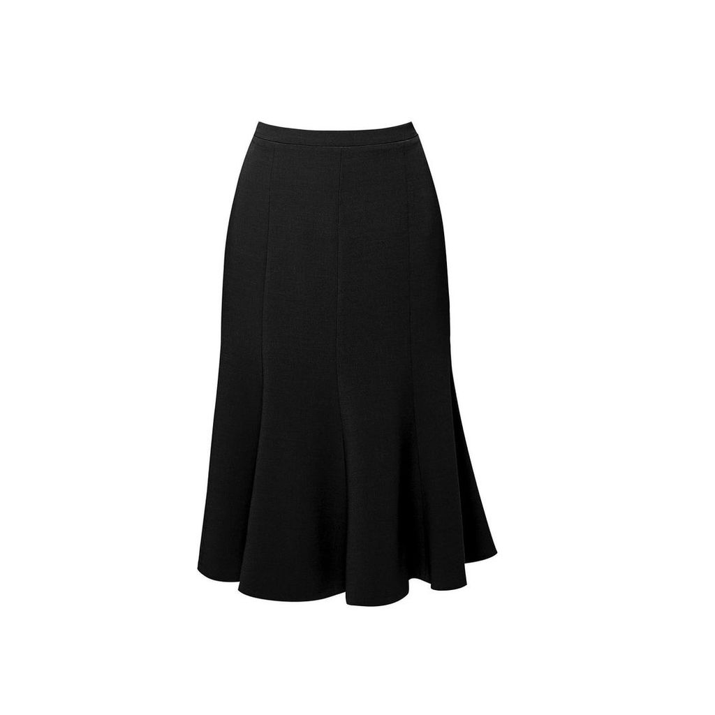 Rumour London - Lucy Wool Midi Skirt In Black