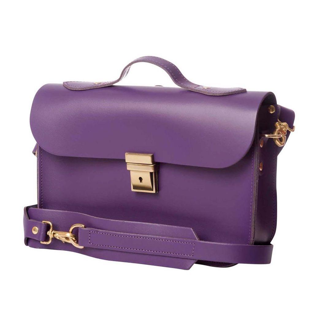 N'Damus London - Small Trilogy Purple Leather Rucksack & Satchel