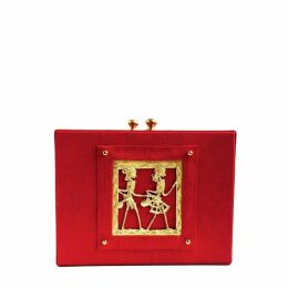 Simitri - Red Tribal Briefcase
