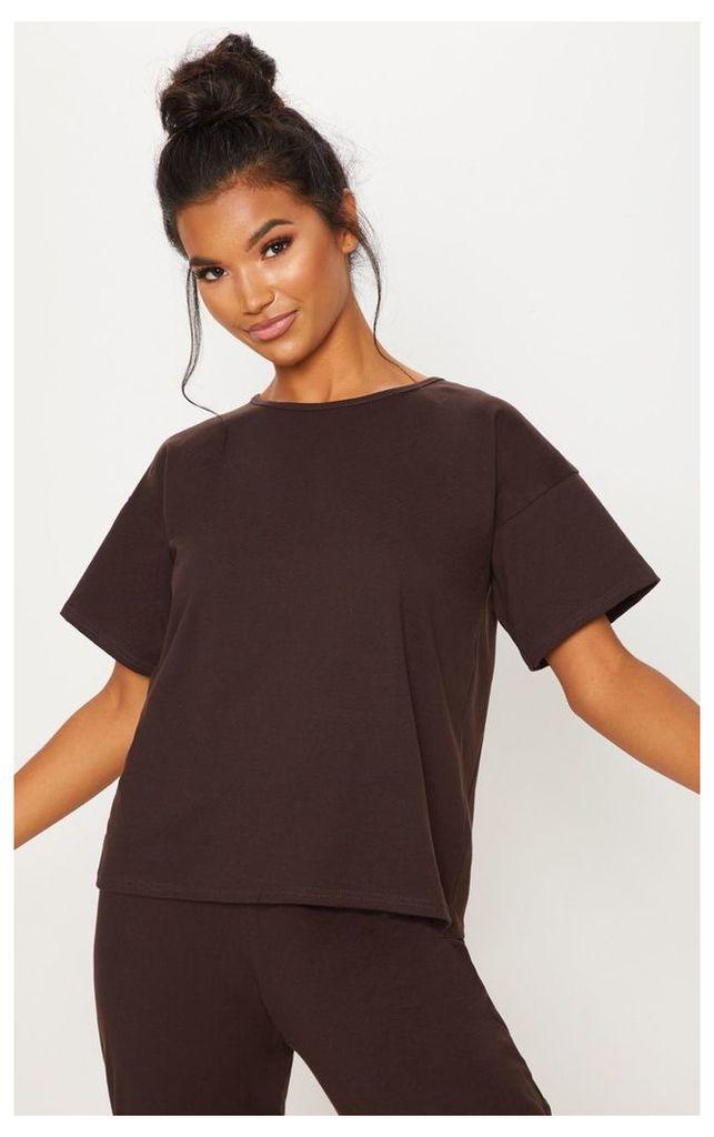 Chocolate Cotton T Shirt, Chocolate
