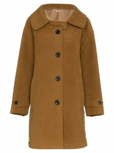 Miu Miu Moleskin Coat - Brown
