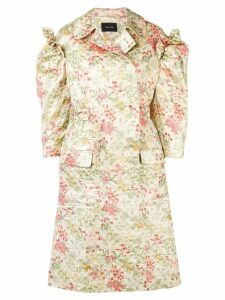 Simone Rocha floral brocade coat - Green