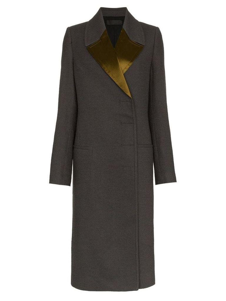 Haider Ackermann Double-Breasted Long Coat - Grey