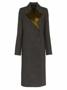 Haider Ackermann Double-Breasted Long Coat - Grey