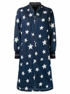 Liska star print coat - Blue