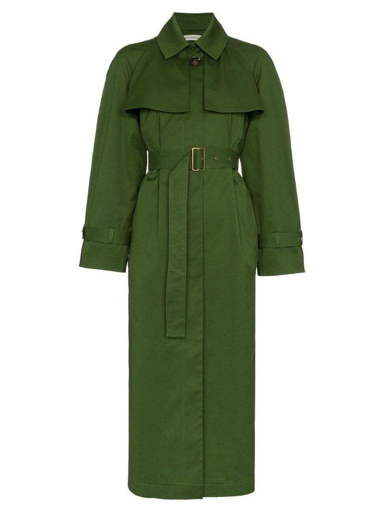 Vika Gazinskaya Belted Trench Coat - Green