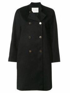 Mackintosh double buttoned coat - Black